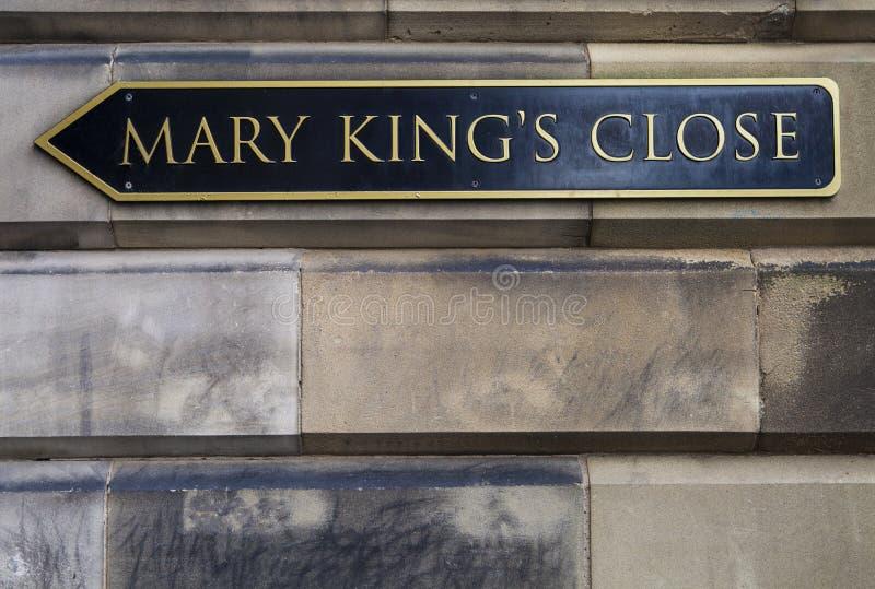 Mary Kings Close i Edinburg arkivbild