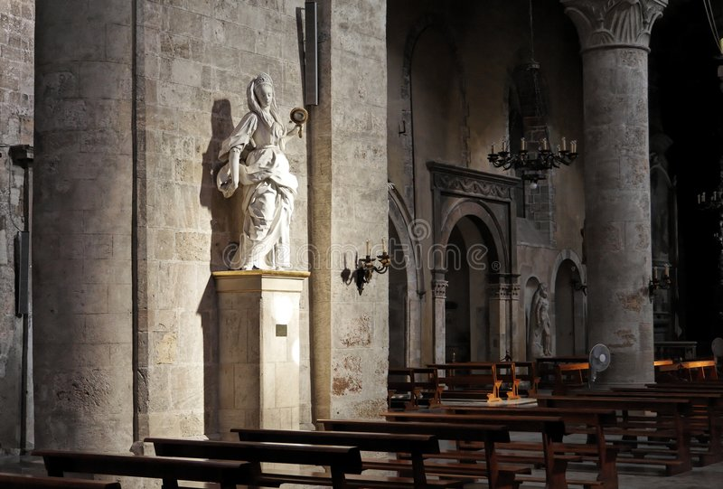 Mary Magdalen San Lorenzo Church Palermo. A marble sculpture of Mary Magdalen inside San Lorenzo Church. Palermo, Sicily, Italy royalty free stock photo