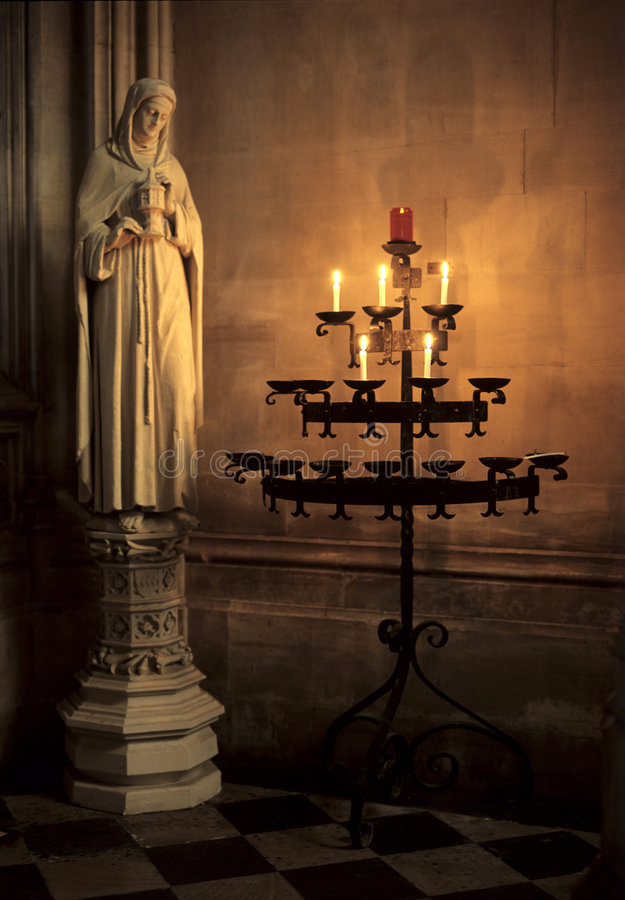 Mary Magdalen Statue Oxord University. The Mary Magdalen statue in the chapel of Magdalen College Oxford University. The college was founded by William of royalty free stock photo