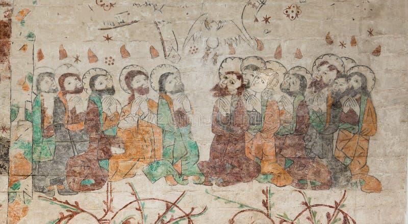 Mary Magdalena μεταξύ των δώδεκα αποστόλων στοκ φωτογραφία με δικαίωμα ελεύθερης χρήσης