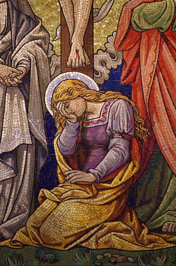Mary Magdalene-Mosaik stock abbildung