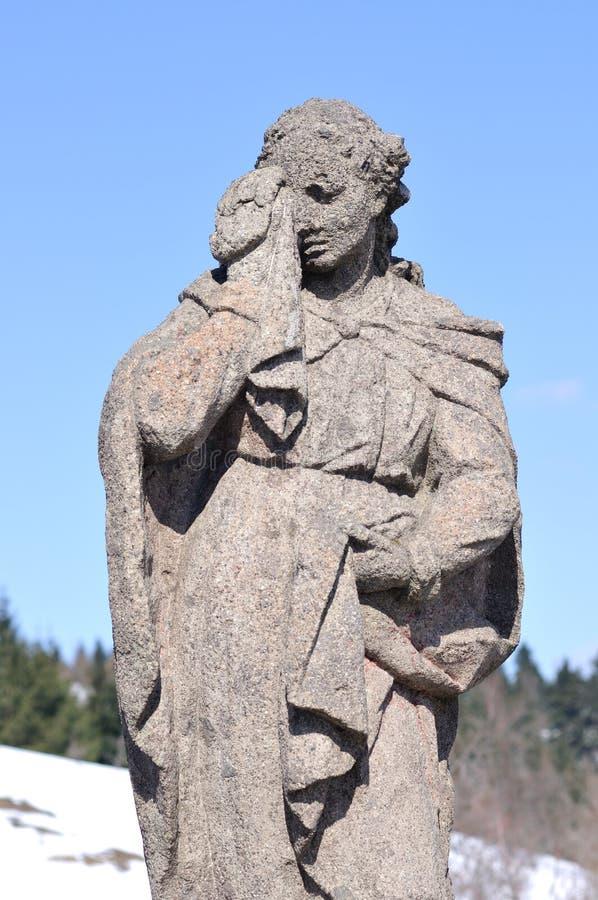 Mary Magdalene på calvaryen Horna arkivbilder