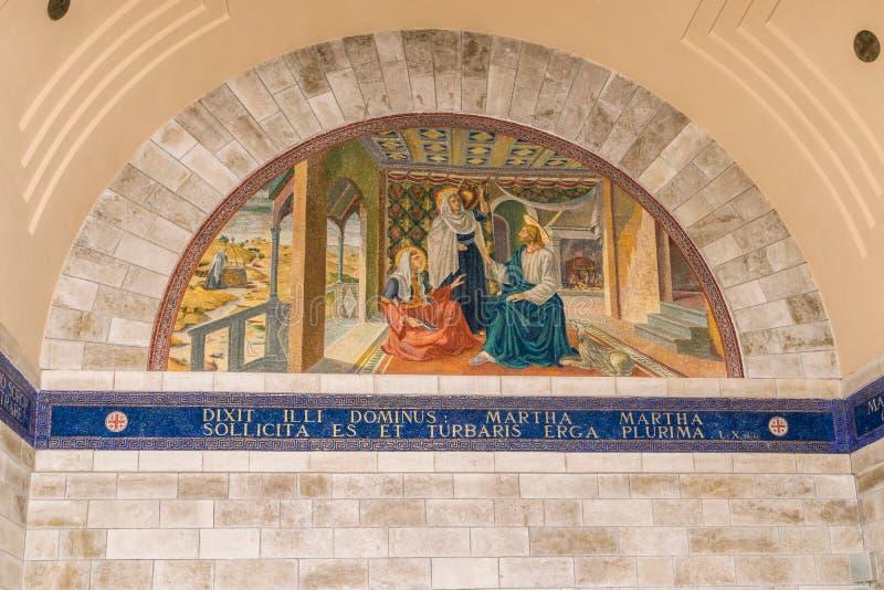 Mary, Martha e Jesus imagens de stock