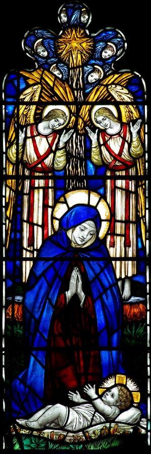 Mary met haar kind Jesus royalty-vrije stock afbeelding