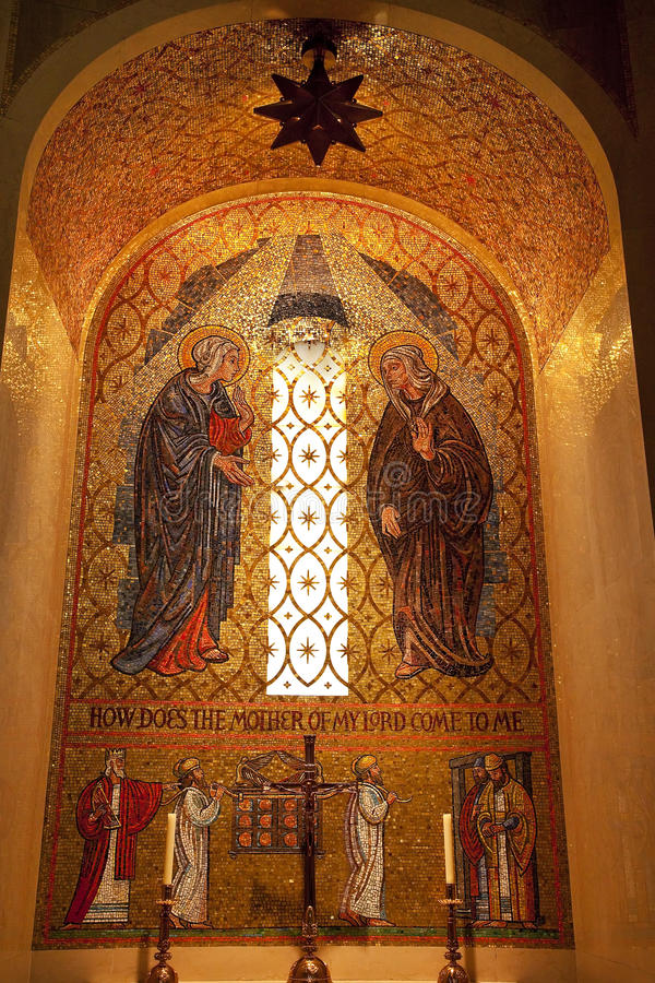 Download Mary Mosaic Shrine Immaculate Conception Royalty Free Stock Images - Image: 14497779