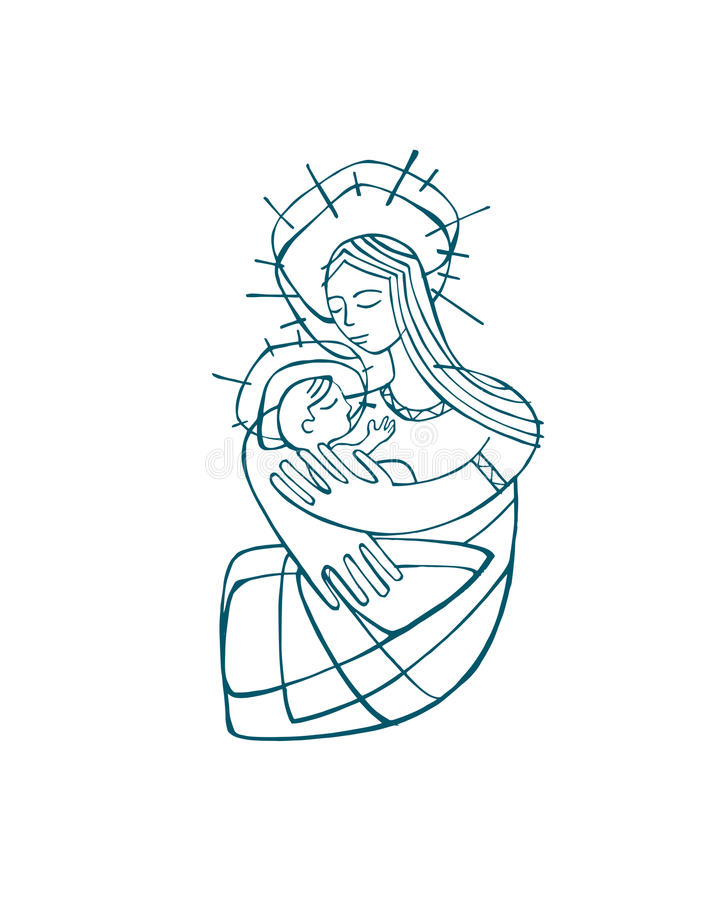 Mary Mother b vector illustration