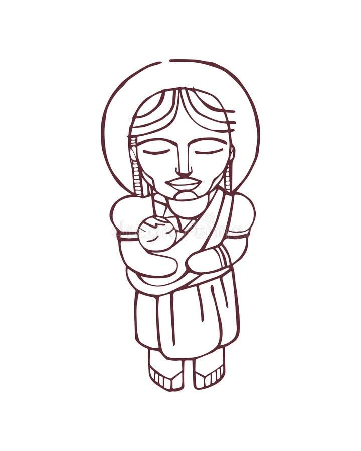 Mary Mother e stock de ilustración