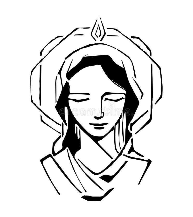 Mary at Pentecost vector illustration