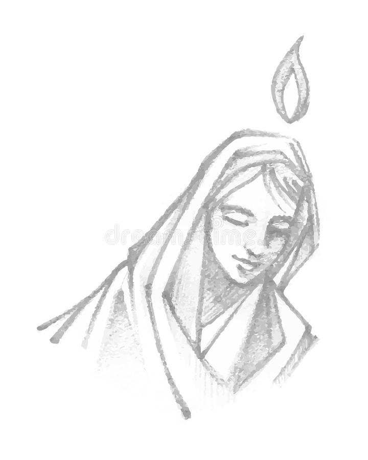 Mary Praying ilustração do vetor