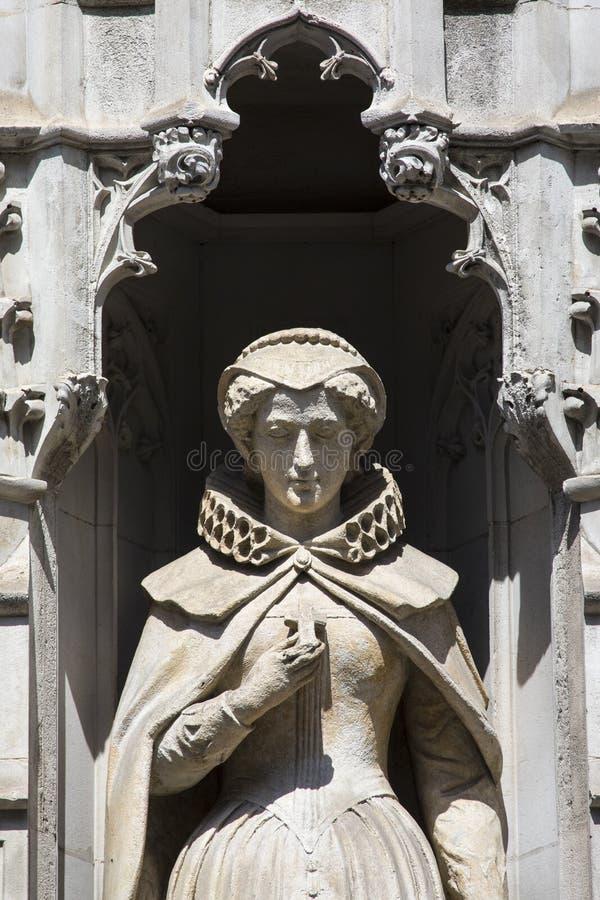 Mary Queen della statua scozzese a Londra immagine stock libera da diritti