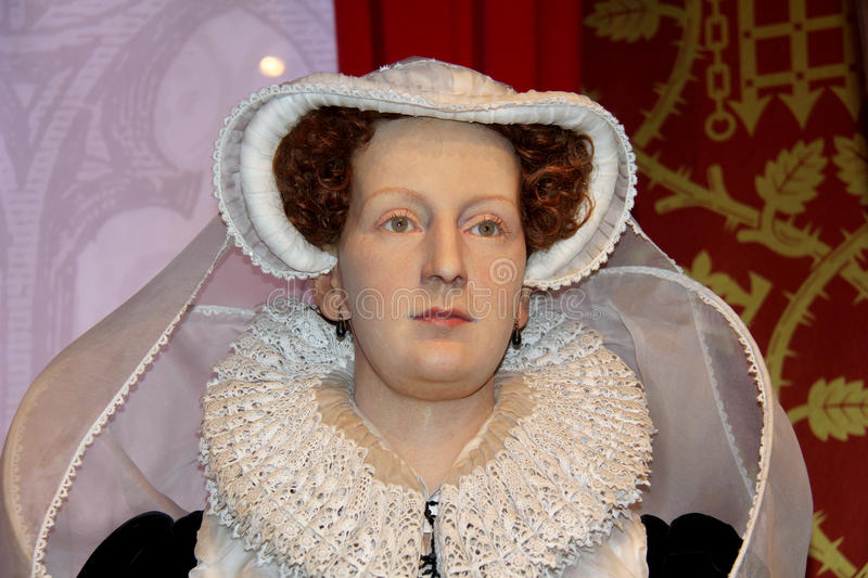 Mary Queen of Scots,. London, - United Kingdom, 08, July 2014. Madame Tussauds in London. Waxwork statue of Mary Queen of Scots, Created by Madam Tussauds in stock images