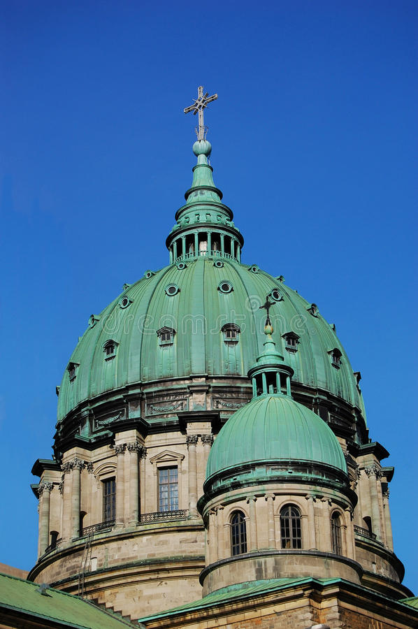 Mary, Queen of the World Cathedral in Montreal stock photo