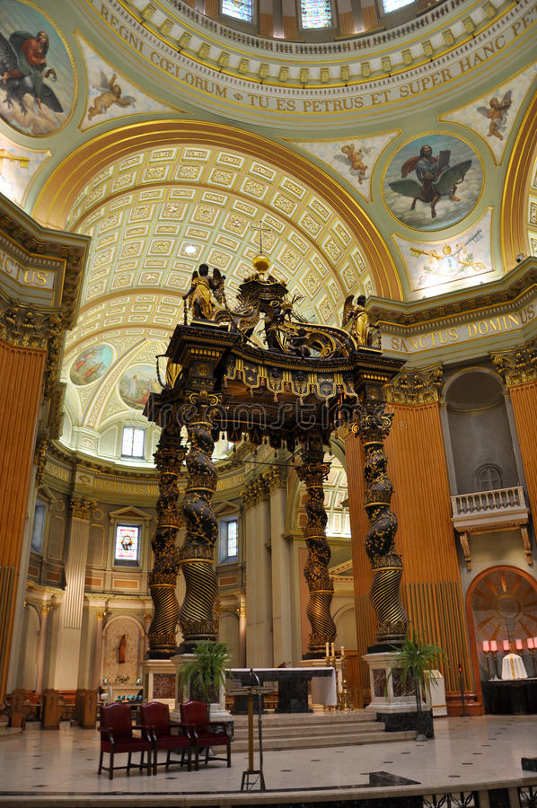 Download Mary Queen Of The World Cathedral, Montreal Stock Image - Image of christ, glass: 20604003