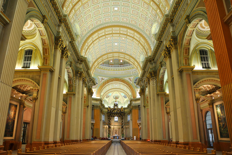 Mary Queen of the World Cathedral, Montreal stock photo