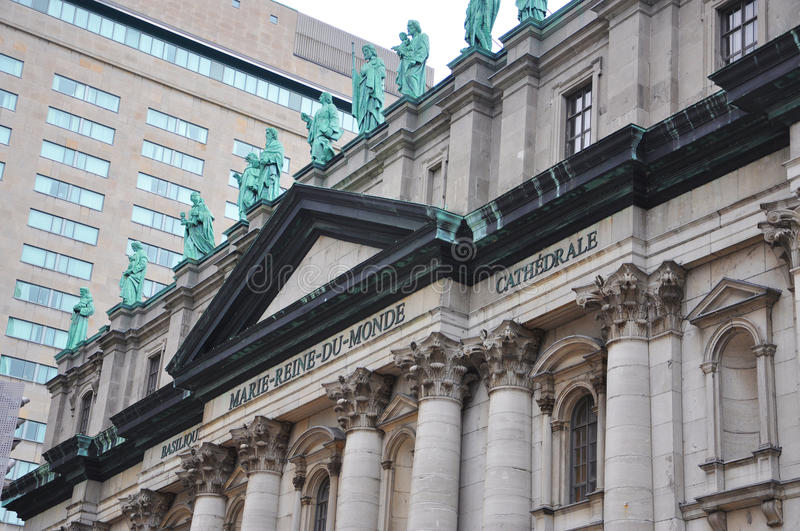 Mary Queen of the World Cathedral in Montreal royalty free stock photography
