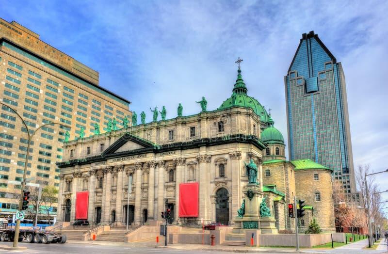 Mary, reine de la cathédrale du monde à Montréal, Canada photo libre de droits