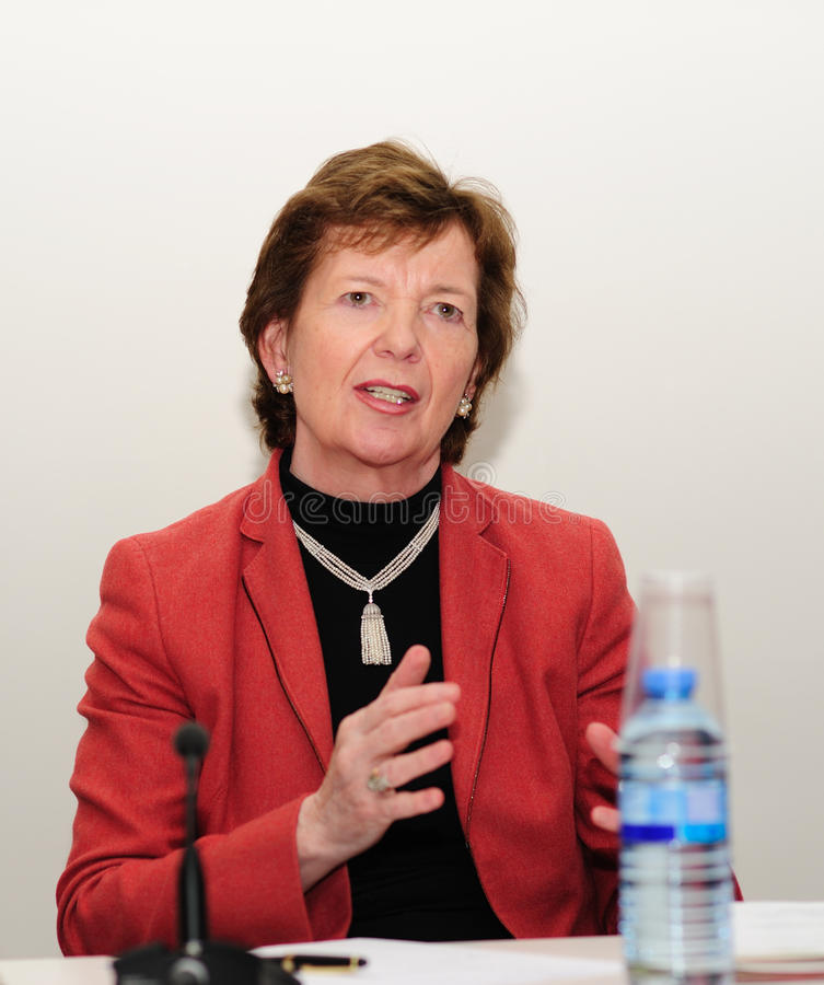 Mary Robinson an der globalen Gerechtigkeit für eine neue Dekade lizenzfreie stockfotografie