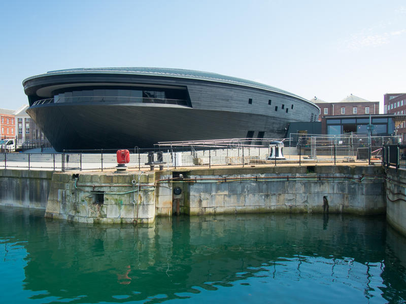 Mary Rose Museum Portsmouth Historic Dockyard immagine stock libera da diritti
