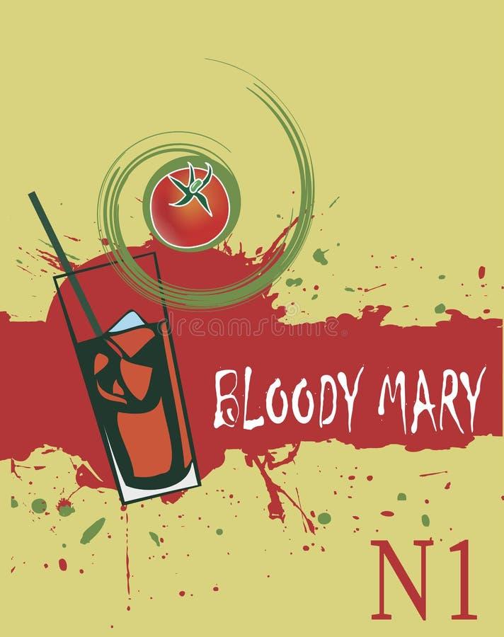 Mary sanguinante Fondo rosso astratto per i cocktail illustrazione di stock