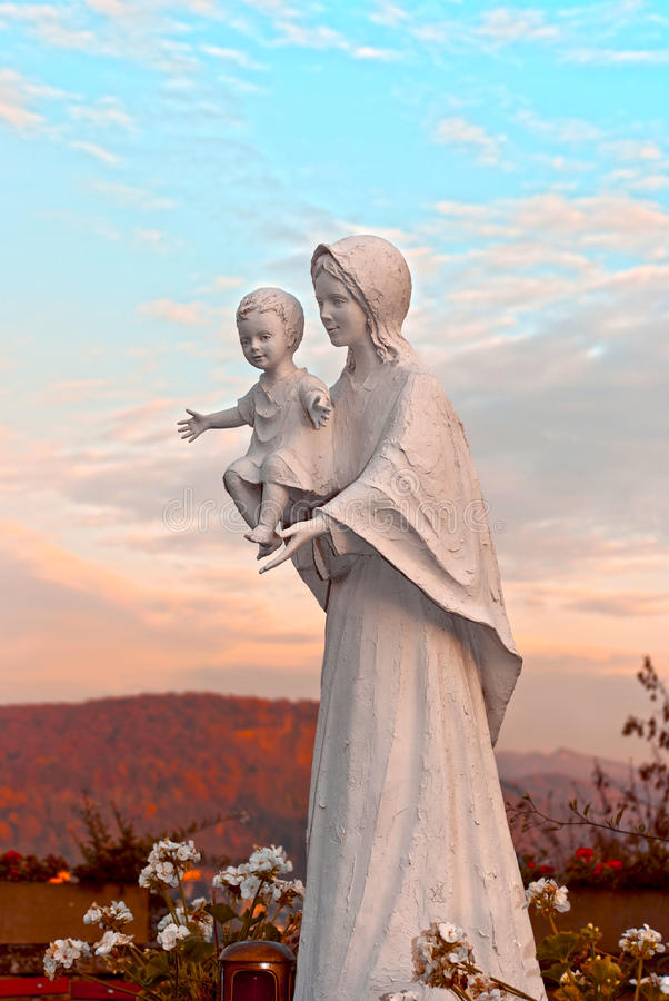 Mary santa con Jesus immagine stock libera da diritti