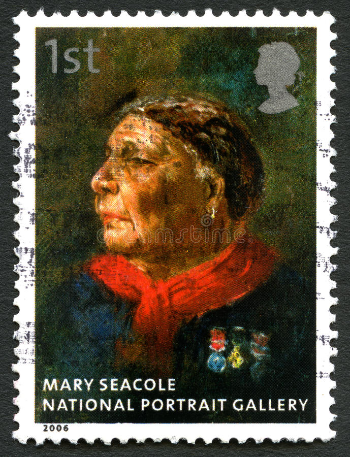 Mary Seacole UK Postage Stamp stock photos