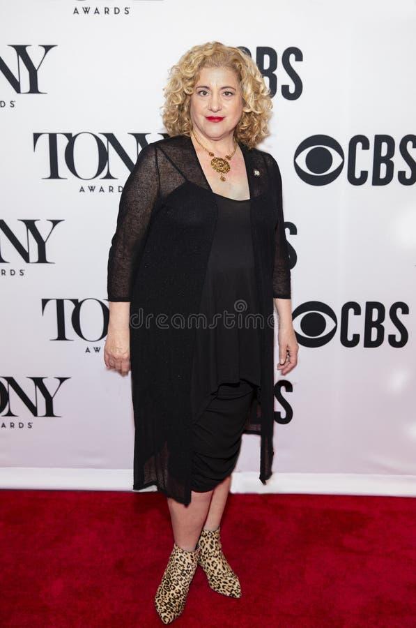 Mary Testa em Tony Awards Meet 2019 os candidatos pressiona o representante imagens de stock royalty free