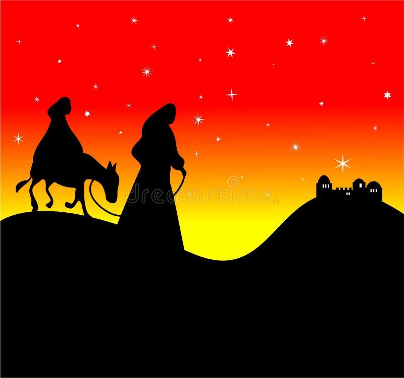 Mary und Joseph lizenzfreie abbildung