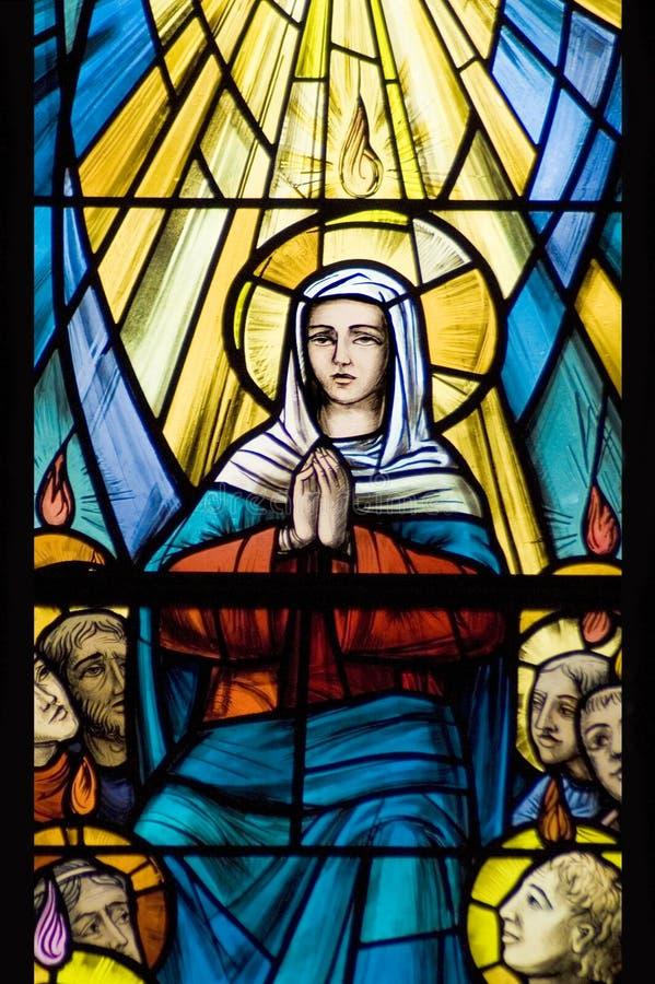 Mary (vetro stainled) fotografie stock libere da diritti