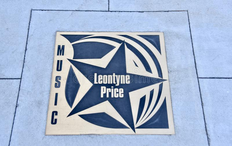 Mary Violet Leontyne Price Star, Meridian, Mississippi royalty free stock photos