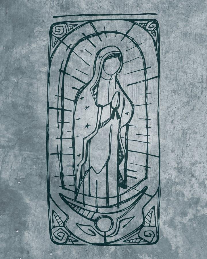 Mary Virgin de Guadalupe ilustração royalty free