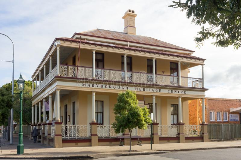 The Maryborough Heritage Centre, Queensland, Australia. Maryborough, Australia - 18th May 2015: The Maryborough Heritage Centre, Queensland. The building was royalty free stock photography