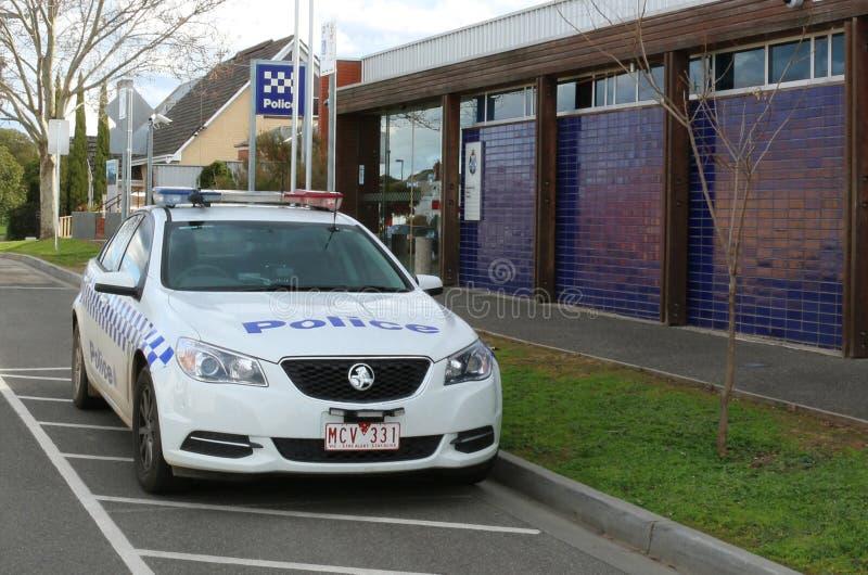 MARYBOROUGH, VICTORIA, AUSTRALIË - Augustus 21, 2015: Maryborough $4 7 miljoen politiebureau werd het van 24 uur geopend in Juli  royalty-vrije stock foto's