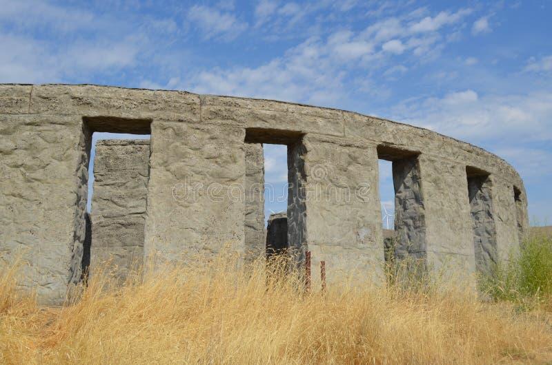 Maryhill Concrete Stonehenge War Memorial royalty free stock images