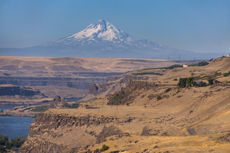 Maryhill, Washington and Mt. Hood, Oregon royalty free stock photo