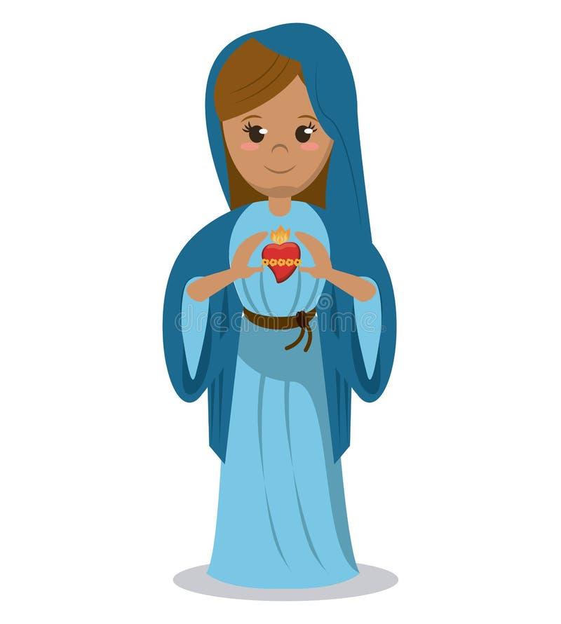 Maryja Dziewica święty kierowy dewocyjny wizerunek royalty ilustracja