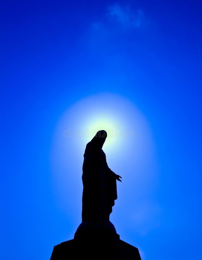 Maryja Dziewica błogosławiona statua obraz royalty free