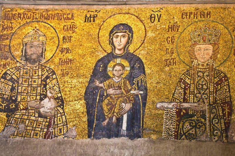 Maryja Dziewica i dziecko, mozaika fotografia royalty free