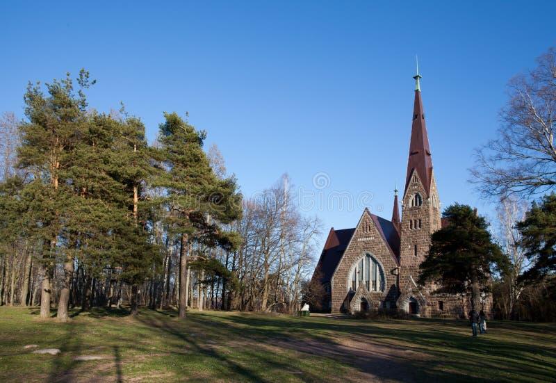 Maryjnego Magdalene lutheran kościół w Primorsk obraz stock