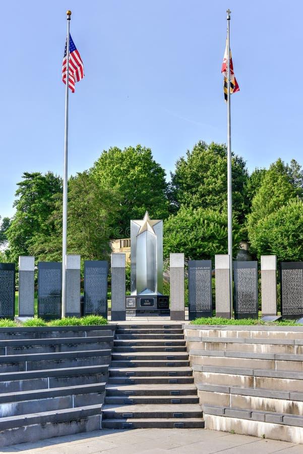 Maryland drugiej wojny światowa pomnik obrazy stock