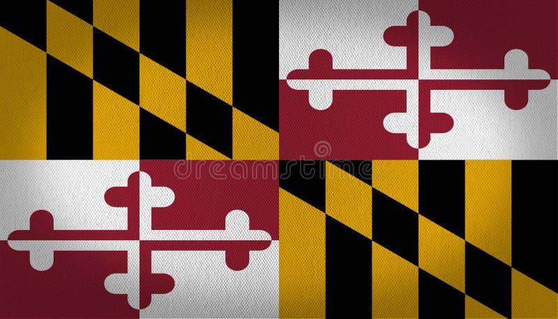 Maryland flagga stock illustrationer