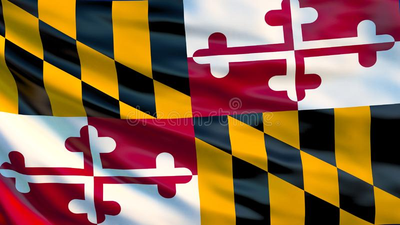 Maryland-Flagge Abbildung 3D USA vektor abbildung
