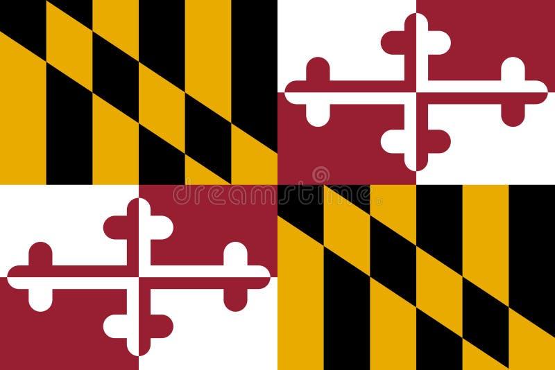 Maryland-Flagge Auch im corel abgehobenen Betrag Staaten von Amerika lizenzfreie abbildung