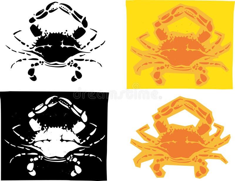Maryland kraby royalty ilustracja
