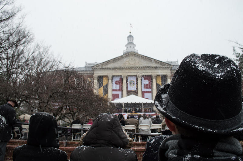 Maryland: Larry Hogan inaugurated as Governor stock image