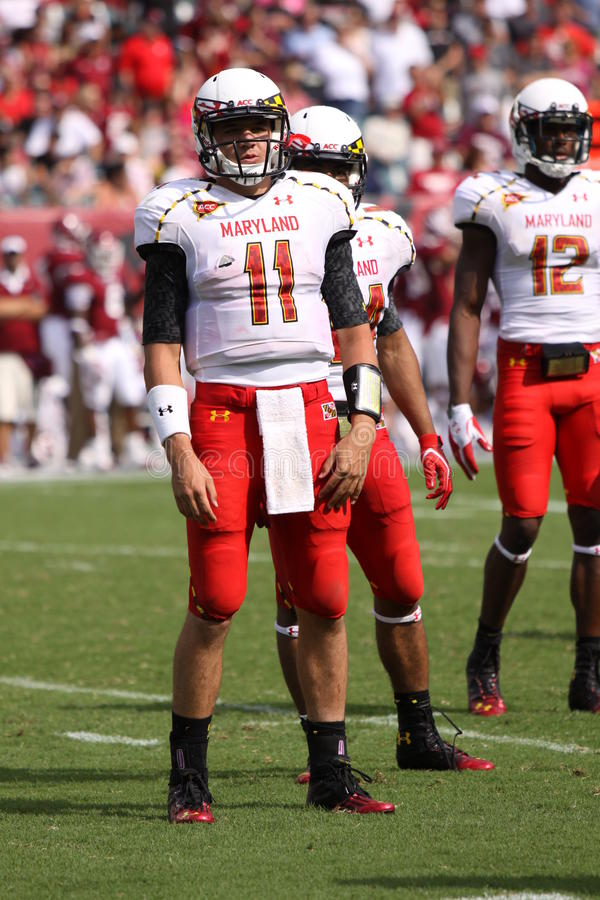 Maryland-Quarterback # 11 Perry-Hügel lizenzfreie stockfotos
