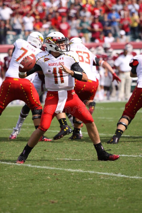 Maryland-Quarterback # 11 Perry-Hügel stockfotografie
