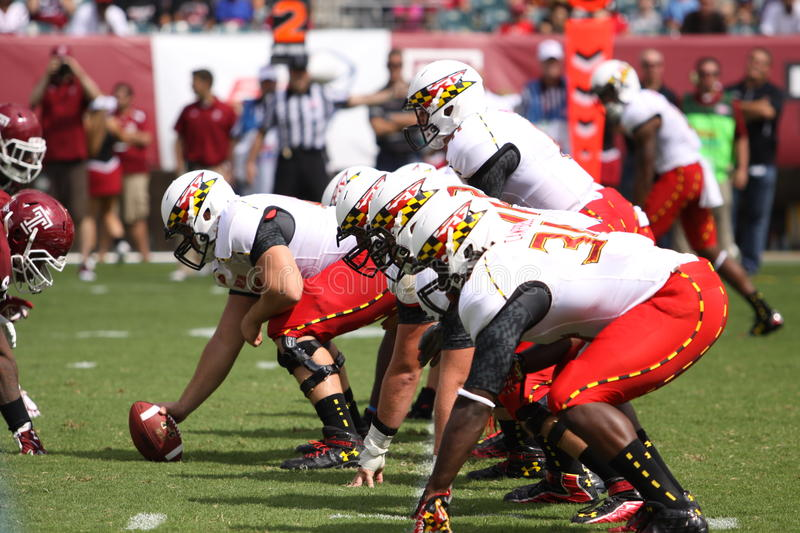 Maryland-Quarterback # 11 Perry-Hügel lizenzfreie stockbilder
