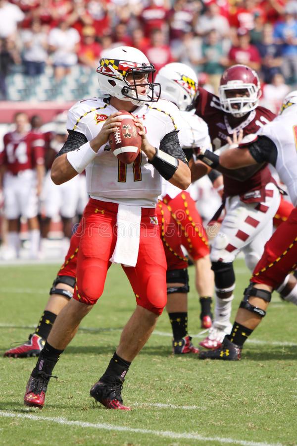 Maryland-Quarterback # 11 Perry-Hügel stockbild