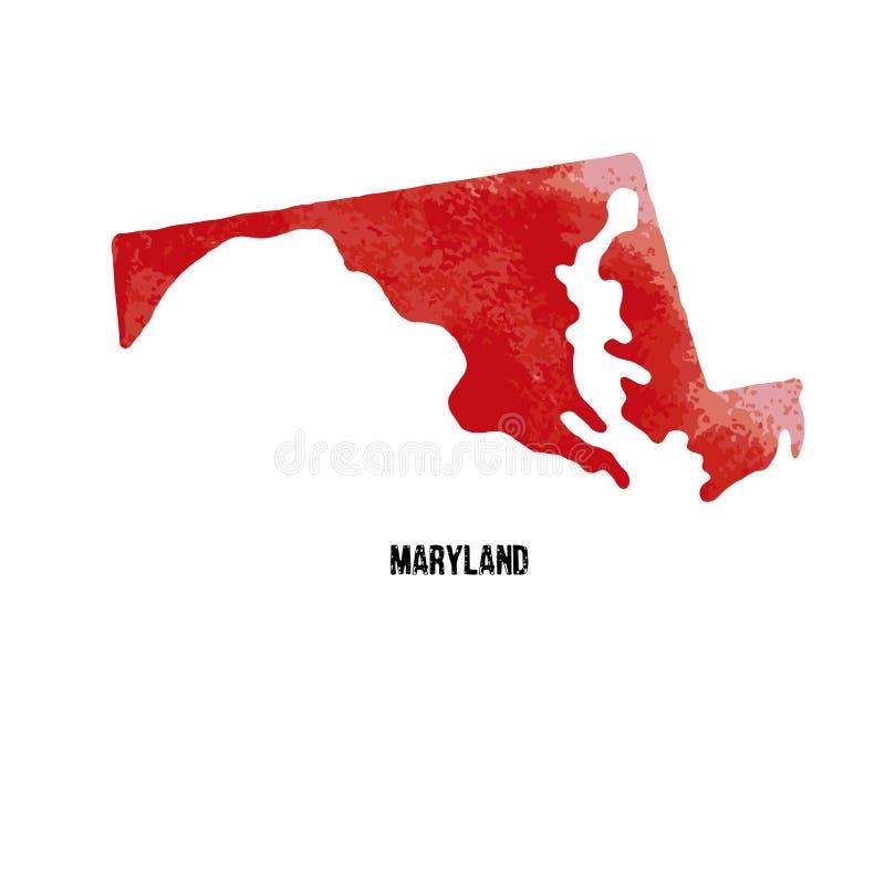 maryland Staaten von Amerika Auch im corel abgehobenen Betrag waterco lizenzfreie abbildung