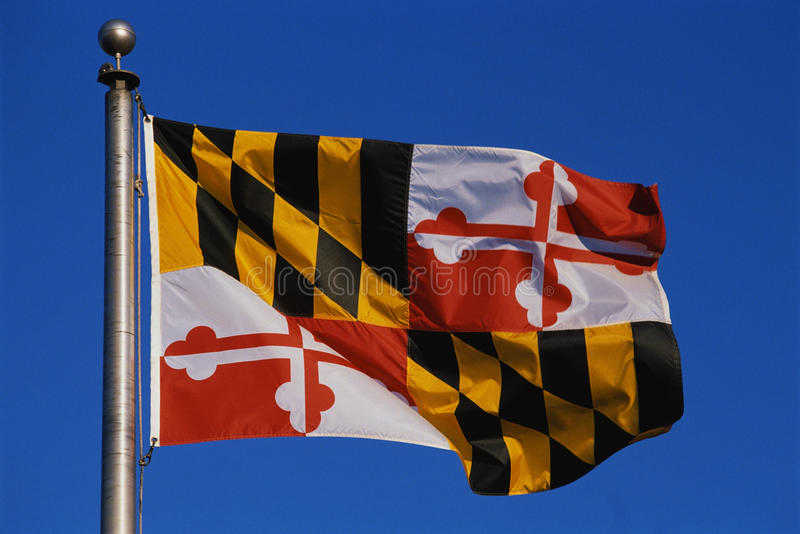 Maryland Stan flaga fotografia royalty free